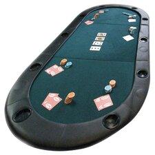 Folding Texas Hold'em Poker Tabletop in Green