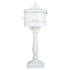 Pedestal Mailbox in White