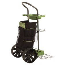 Carry-All Garden Cart in Black & Green