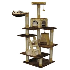 Cleo Cat Tree in Beige & Brown