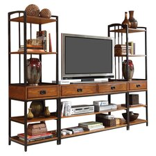 Modern Craftsman Entertainment Center in Oak