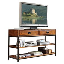 "Modern Craftsman 54"" TV Stand in Distressed Oak"