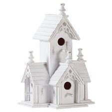 Historic Manor Birdhouse in White