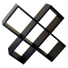 Crisscross Wall Mount Multimedia Storage Rack in Black