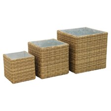 Winchester 3 Piece Planter Set in Natural