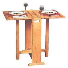 Fold Away Butcher Block Prep Table in Natural