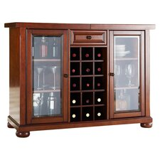Alexandria Sliding Bar Cabinet in Classic Cherry