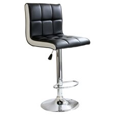 Barlow Adjustable Padded Barstool in Black