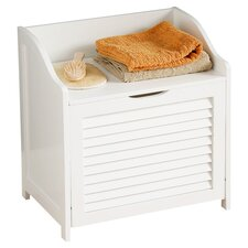 Shutter Laundry Cupboard in White