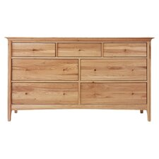 Hudson 7 Drawer Chest in Oak