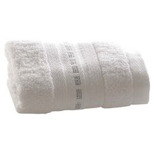 Crystal Dash Hand Towel in White