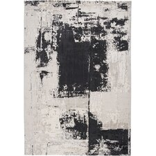 Graffiti Charcoal Black Rug