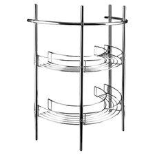 Pedestal Storage Unit in Chrome