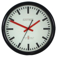Swiss Station Clock in Black