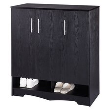 Sadie Modern Shoe Cabinet in Black