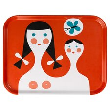 Vitra A. Girard Mother & Child Serving Tray in Red