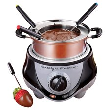 Fondue Set in Silver & Black