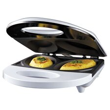 Sylvania Non-Stick Omelet Maker in White