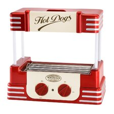 Retro Hot Dog Roller in Red