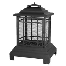 Pagoda Patio Fire Pit in Black