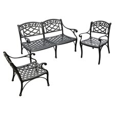 Sedona 3 Piece Seating Group in Charcoal Black