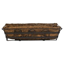 Railing Planter in Bronze