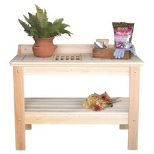 Cypress Potting Table in Natural