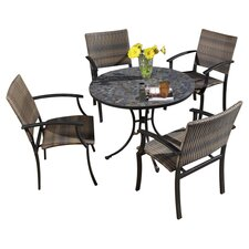 Stone Harbor 5 Piece Small Dining Set in Black