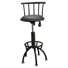 Adjustable Swivel Barstool in Black