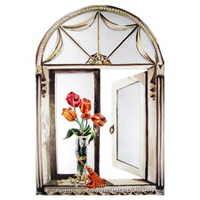 Tulips & Tassel Window Mirror Screen