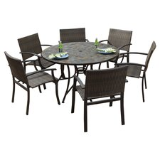 Stone Harbor 7 Piece Dining Set in Black