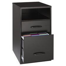 Home Office 2 Drawer Cabinet in Black