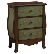 Beddingfield 3 Drawer Chest in Brown & Green