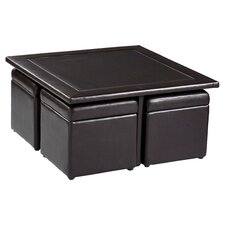 Barton 5 Piece Coffee Table Set in Dark Chocolate