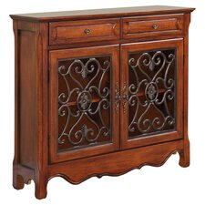 Scroll Console Table in Light Cherry