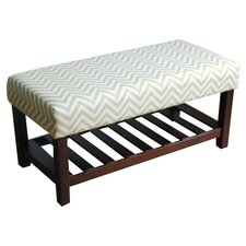 Chevron Cocktail Bench in Cream