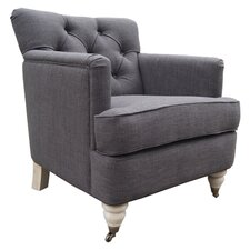 Riccardo Club Arm Chair in Charcoal