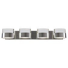 4 Light Pop Vanity Light in Bubbly Silver