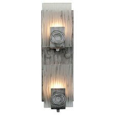 2 Light Wall Sconce in Blackened Silver