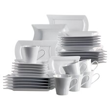 Perfetto 30 Piece Dinnerware Set in Uni White
