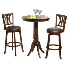Dove 3 Piece Counter Height Dining Set in Mahogany