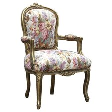 Louis Arm Chair in Antique Gold