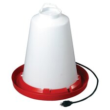 Heated Chicken Waterer in Red