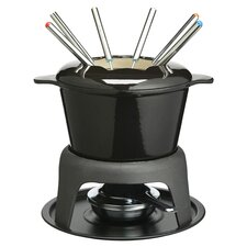 7 Piece Fondue Set in Black