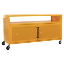 "Soft Modern 44"" TV Stand in Yellow"