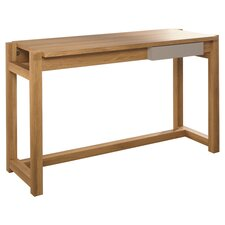 Soft Modern Writing Desk in Pale Oak