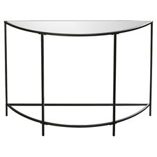 Soft Modern Console Table in Black