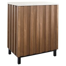 Soft Modern Cubby Storage Cabinet in Walnut
