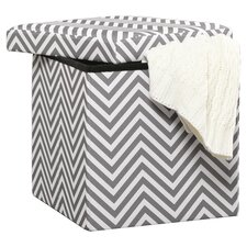 Soft Modern Upholstered Storage Ottoman in Grey