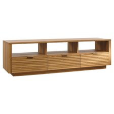 "Soft Modern 73"" TV Stand in Pale Oak"